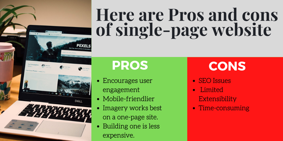 pros and cons of single page website