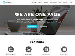 build a single page website